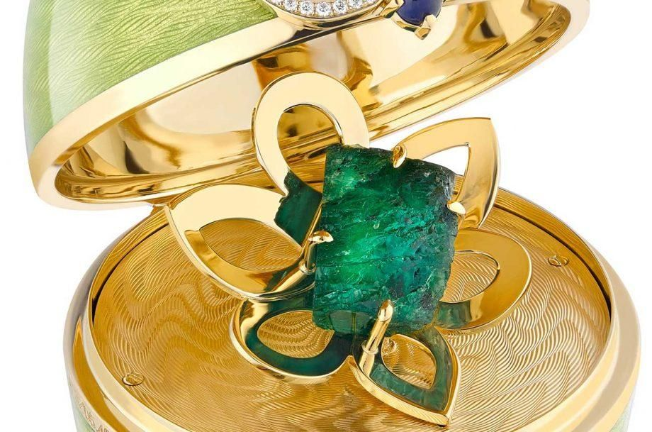 Emerald Isle Bespoke Celtic Egg detail shot Credit Faberge 920x609