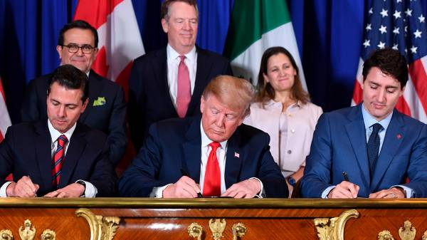 USMCA agreement enters into force on July 1, 2020
