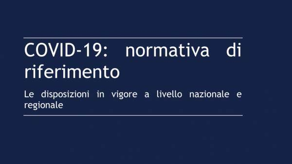 Covid-19: riepilogo normativa in vigore al 30 marzo 2020