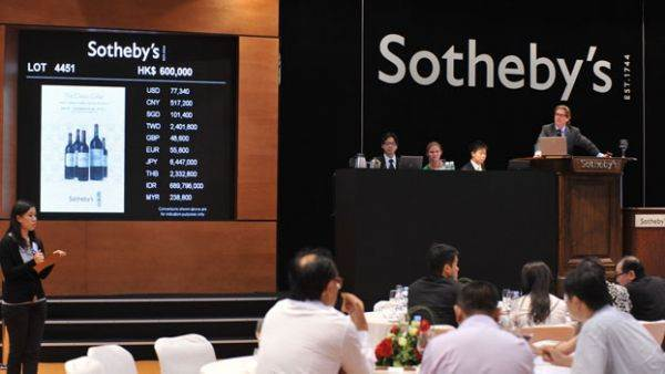 Il vino fa bene a Sotheby's: crescita del 23% nei primi sei mesi dell'anno