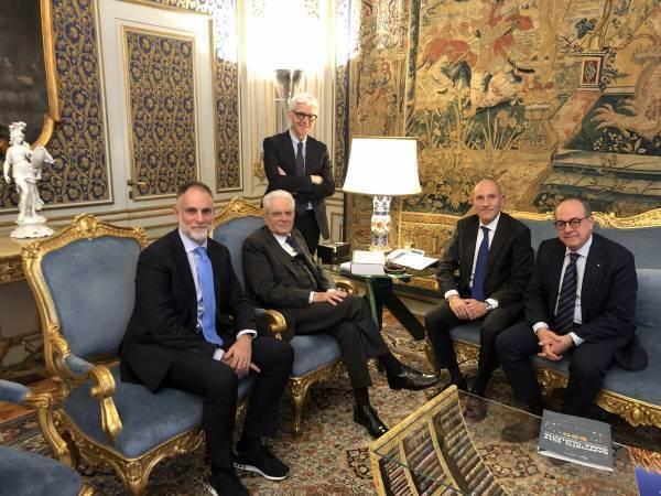 Cesare Mazzetti con Fondazione Qualivita incontra il Presidente della Repubblica italiana Sergio Mattarella