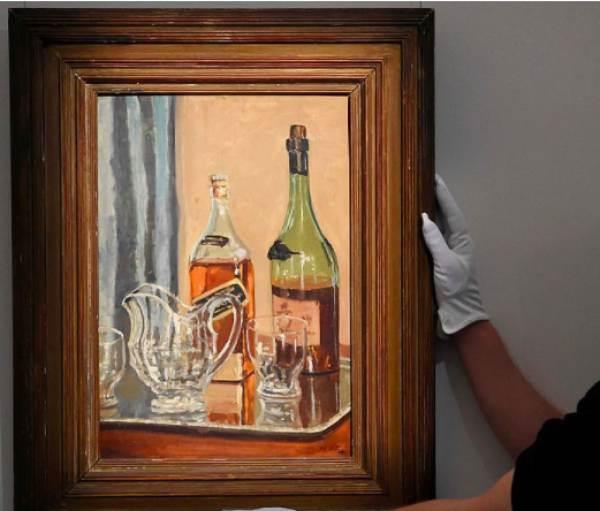 All'asta per più di un milione il quadro di Churchill con il whisky