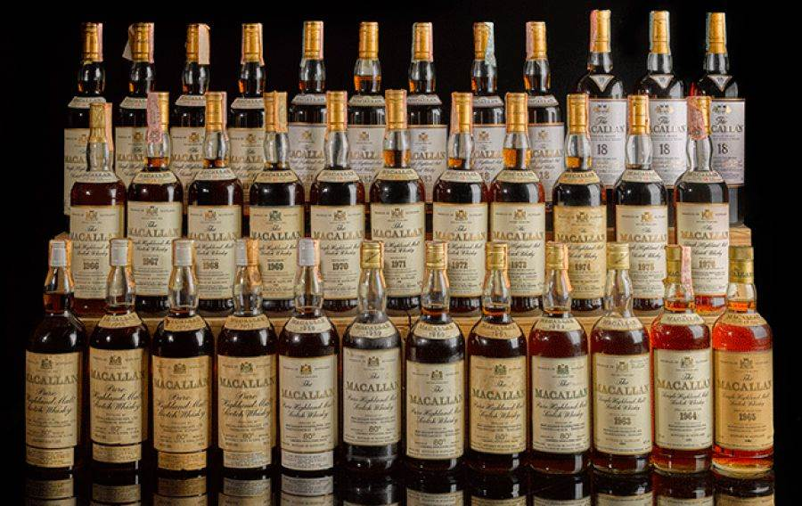 Super collezione di whisky all'asta per 4 milioni di sterline