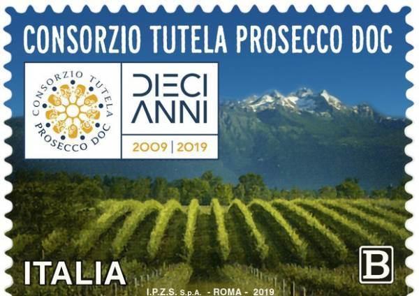 Un francobollo per celebrare i 10 anni della Doc Prosecco